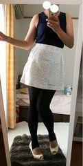 白スカート★ネイビータンクトップ★セット売り