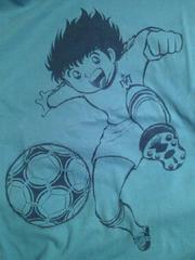 サッカー ジャンプ 50周年 ユニクロ キャプテン翼 デザイン Tシャツ Lサイズ ブルー
