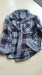 ユニクロ110チェックシャツ