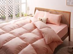 20色羽根布団8点セット/セミダブル/ベッド