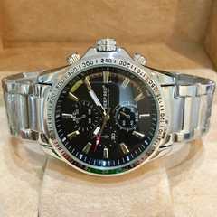 期間限定大特価!ロレックス好きの方に♪ダブルロックメタル腕時計★ブラック