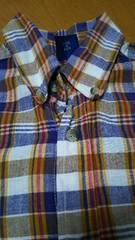 130�p 男の子 キッズ マドラスチェック 半袖 シャツ