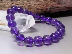 天然アメジスト8ミリ数珠§紫水晶