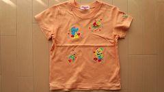 MIKI HOUSE(ミキハウス)☆110�pオレンジ色半袖Tシャツ