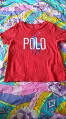 ラルフローレン☆ロゴ☆赤Tシャツ★size90ぐらい
