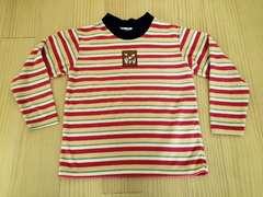 昭和レトロ☆120☆ビンテージ☆ベロアシャツ☆ボーダー☆日本製