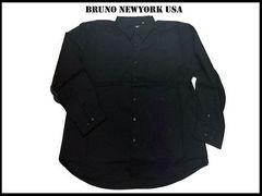 新 【黒色-2XLB】 Bruno Newyork シャツ人気ビッグサイズ