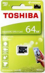 東芝 64GB microSDXCカード (マイクロSDXCカード) 読込Max100MB/秒
