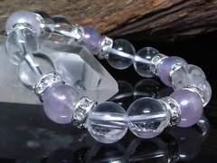 フラッシュアメジスト水晶10ミリ数珠