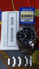 シチズンREGNO光発電ソーラー電波腕時計使用感少なめ美品