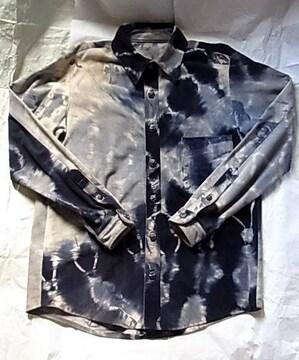 クロムハーツ レザー シャツ ジャケット スエード革フレアニー