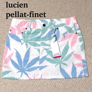 ルシアンペラフィネ スカート XS ヘンプ柄 未使用 /lucien pellat-finet 送料込