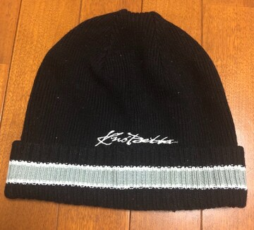 KNOCKOUTノックアウト☆黒ニット帽90s