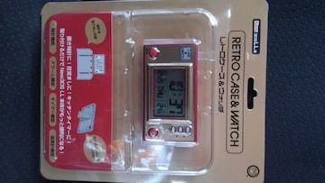 New 3DS LL用 レトロケース&ウォッチ 未開封未使用品