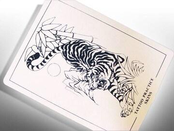 【刺青・タトゥー】練習用スキン【 虎 】 1枚