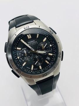 T086 美品★ カシオ 腕時計 ウェーブセプター 電波ソーラー