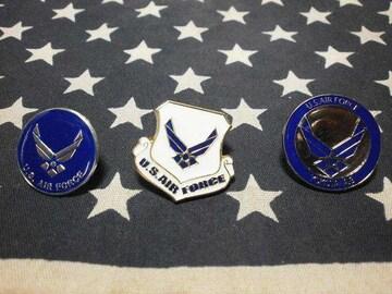 アメリカ空軍 エンブレムピンズ 3個セット 新品