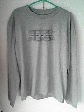 EMPORIO ARMANIグレーロンT長袖Tシャツ Lサイズ ロングTシャツ アルマーニ即決