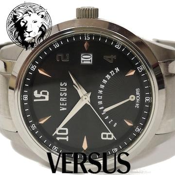 美品 1スタ★ヴェルサーチ VERSUS【24hメーター】メンズ腕時計