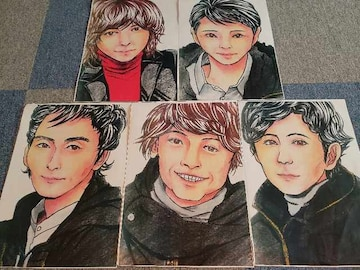 SMAP5人イラストセット