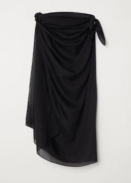 新品未使用H&Mサロン黒色ブラック水着ビキニワンピースストール