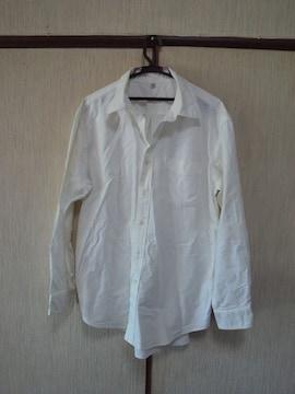 ユニクロ白長袖シャツ中古UNIQLO