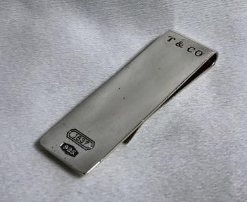 正規 TIFFANYティファニー ヴィンテージ T&CO 1837ロゴマネークリップ SV925 財布