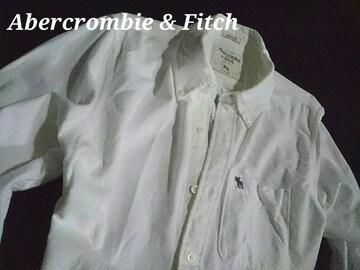【Abercrombie & Fitch】アバクロ Vintage オックスフォードシャツ XXL/White
