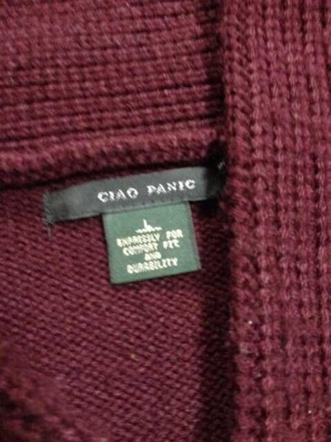 美品CIAO PANIC ショールニットカーデ 紫 チャオパニック < ブランドの