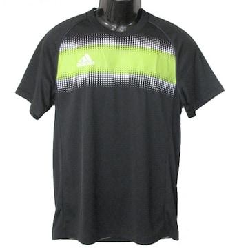 新品◆送料無料◆アディダス 黒グラフィックTシャツ(M)