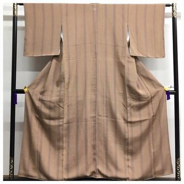 美品 小紋 高級呉服 一つ紋入り 裄61.5 身丈152.5 極上 逸品 正