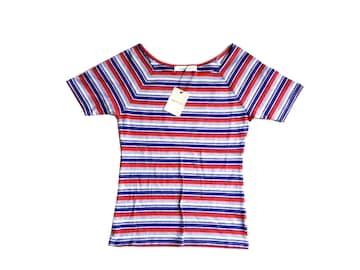 新品 定価4990円 ダズリン DazzliN ボーダー Tシャツ 赤 青