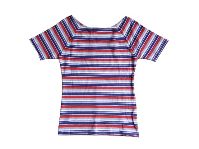 新品 定価4990円 ダズリン DazzliN ボーダー Tシャツ 赤 青 < ブランドの