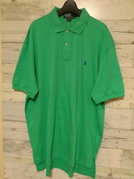 PoloRalphラルフローレンターコイズブルーポロシャツ