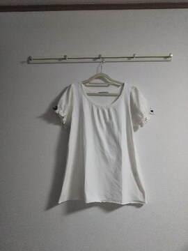 新品、しまむらレースパフスリーブTシャツ