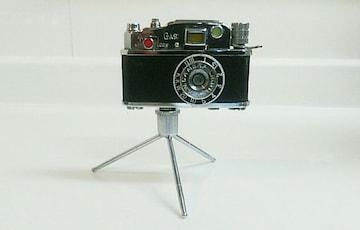 レトロ 三脚 カメラ 型 ガスライター  ミニチュア