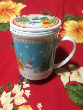 新品未使用☆Disney☆プーさん☆フタ、茶こし付きマグカップ☆