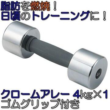 グリップ付 クロームアレー ダンベル 鉄アレイ 4kg×1 STW154