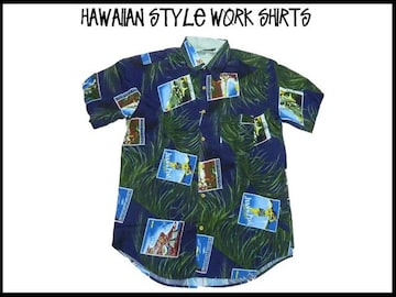 新品 アロハ・ハワイアンスタイル S/S半袖シャツ (2XL)#214