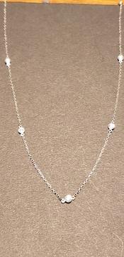 PT850 0.2カラットダイヤモンドステーションネックレス
