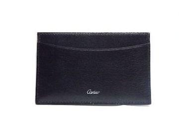 カルティエ レザー カードケース ブラック<未使用>送料無料