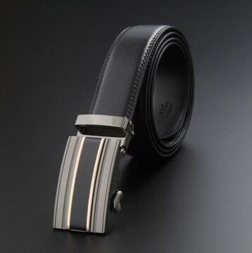 オートロック式 本革高級ベルト 110cm〜125cm長さ選択6