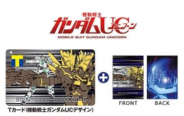 機動戦士ガンダムUCデザイン Tカード+A4クリアファイル 新品