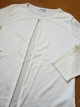 ☆新品同様☆クリームホワイト サラサラ七分袖☆L