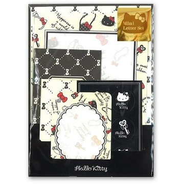 【キティ】可愛い便箋+封筒+ミニ封筒+カード+シール♪レターセット