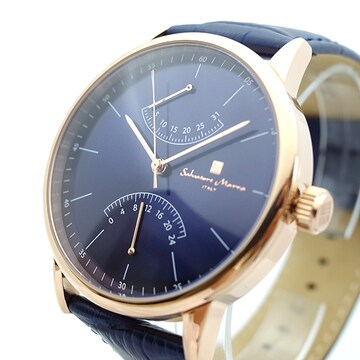 サルバトーレマーラ 腕時計 メンズ SM19105-PGBL ブルー