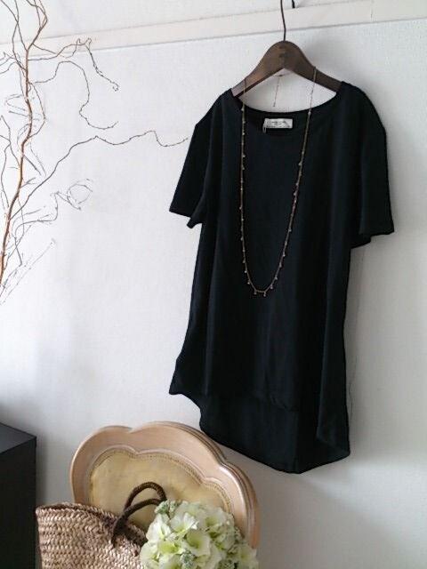 ZARA★オーガニックコットンのブラックTシャツ/今期タグ付き新品
