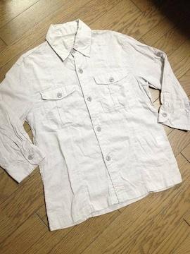 美品CIAO PANIC 7分丈シャツ グレー チャオパニック