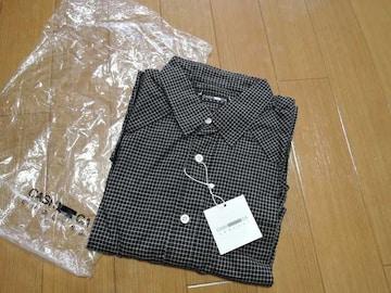 新品カシュカCASHCAギンガムチェックシャツM黒薄手ウエスタン