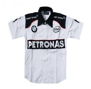 1セール! BMW PETRONASロゴ  白シャツ L f202